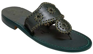 Jack Rogers Women's Sandals FOREST - Forest Green Natural Jacks Leather Sandal - Women