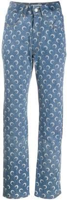 Marine Serre moon print jeans