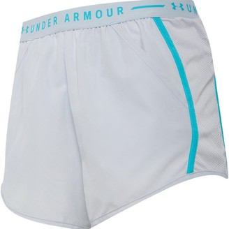 Under Armour Womens Fly By Exposed Running Shorts Grey