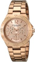 Stuhrling Original Women's 558.03 Symphony Regent Capital Quartz Day and Date Rose Tone Bracelet Watch