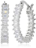 Cara Baquette Hoop Earrings