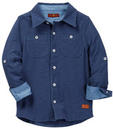 7 For All Mankind Knit Button Up Shirt (Little Boys)
