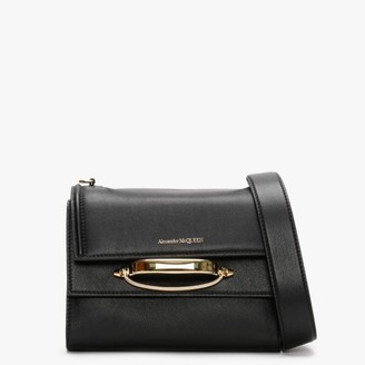 Alexander McQueen Small The Story Black & Red Multiway Bag