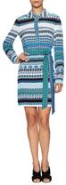 Diane von Furstenberg Silk Print Self Tie Shirtdress