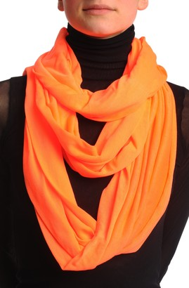 Lisskiss Fluorescent Orange Two Or Three Loops Snood - Orange Designer Scarf