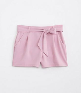 LOFT Tie Waist Stretch Pull On Shorts