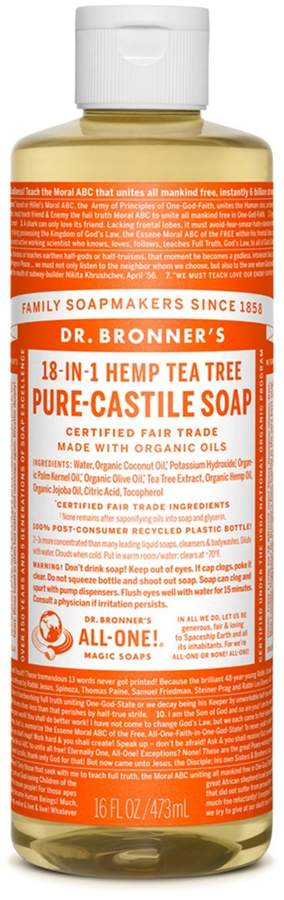 Dr. Bronner's Tea Tree Castile Liquid Soap by 16floz Liquid Soap)