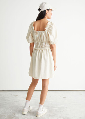 And other stories Voluminous Puff Sleeve Mini Dress