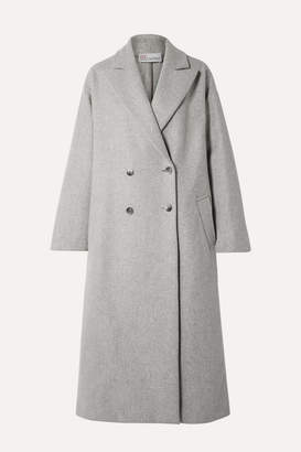 RED Valentino Oversized Double-breasted Wool-blend Coat - Gray