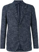 Tagliatore classic woven blazer - men - Cotton/Linen/Flax/Acrylic/Cupro - 48