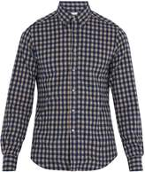Boglioli Single-cuff checked cotton-flannel shirt