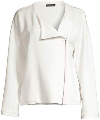 Eileen Fisher Roundneck Zip Jacket