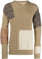 Maison Flaneur contrast panel wool sweater