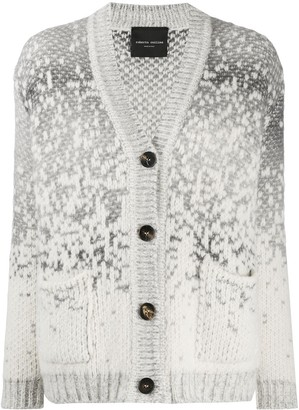 Roberto Collina Speckle Knit Chunky Cardigan