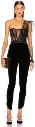 Aadnevik Velvet Jumpsuit in Black | FWRD