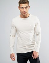 Asos Muscle Long Sleeve T-Shirt With Logo