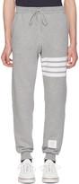 Thom Browne Grey Classic Four Bar Lounge Pants
