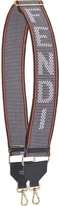 Fendi Embroidered Logo Bag Strap