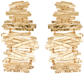 Josie Natori Hammered Metal Stacked Earrings