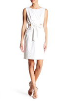 Ellen Tracy Belted Shift Dress