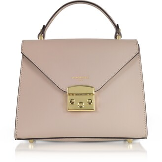 Peggy Leather Top Handle Satchel Bag