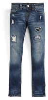 Miss Me Girl's Retro Blowout Distressed Skinny Jeans