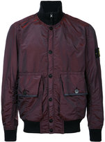 Stone Island arm patch bomber jacket - men - Polyamide/Polyester - M