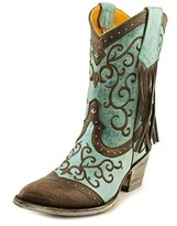 "Old Gringo Bacu 10"" Women Pointed Toe Leather Blue Western Boot."