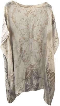 Balmain Beige Silk Dress for Women