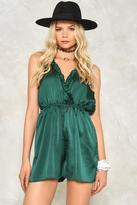 Nasty Gal Frills and Chills Plunging Romper