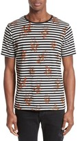 The Kooples Men's Flower Print Stripe Ringer T-Shirt
