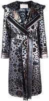 Peter Pilotto metallic leaf print coat