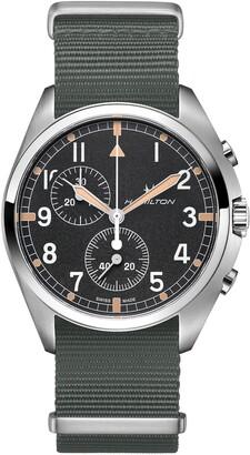 Hamilton Khaki Aviation Pilot Chronograph Textile Strap Watch, 41mm