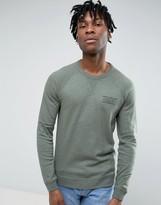 Jack Wills Bridgend Sweatshirt Lightweight Small Logo in Khaki