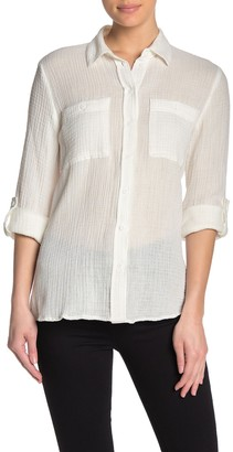 Philosophy di Lorenzo Serafini Front Pocket Semi-Sheer Blouse