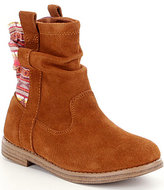 Toms Laurel Girls' Slip-On Suede Patterned Back Slouchy Boots
