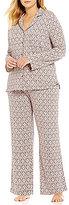 Cabernet Plus Medallion-Print Pajamas