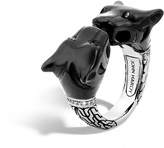 John Hardy Macan Ring with Black Onyx and Diamonds