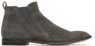 Officine Creative Grey Mondrian 5 Chelsea Boots