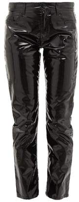 No.21 No. 21 - Mid-rise Slim Pvc Trousers - Womens - Black
