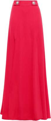 Versace Button-embellished Crepe Maxi Skirt