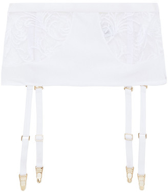 La Perla Embroidered Stretch-jersey And Tulle Suspender Belt