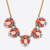 J.Crew Factory Mixed stone clusters necklace