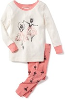 Old Navy 2-Piece Ballerina Graphic Sleep Set for Toddler