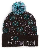 Capelli of New York Girl's So Emojinal Beanie - Black