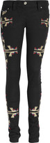 Renell embroidered skinny jeans