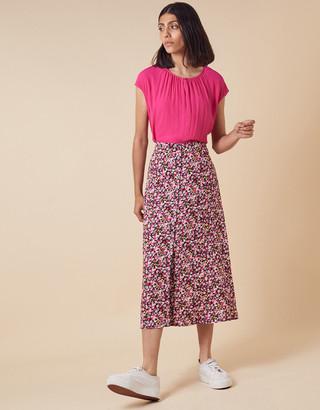 Monsoon Short Sleeve Blouse with LENZING ECOVERO Pink