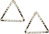 Topshop Cut Out Triangle Stud Earrings