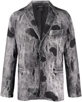 Avant Toi distressed fitted blazer