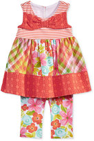 Bonnie Baby 2-Pc. Mixed-Print Tunic & Leggings Set, Baby Girls (0-24 months)